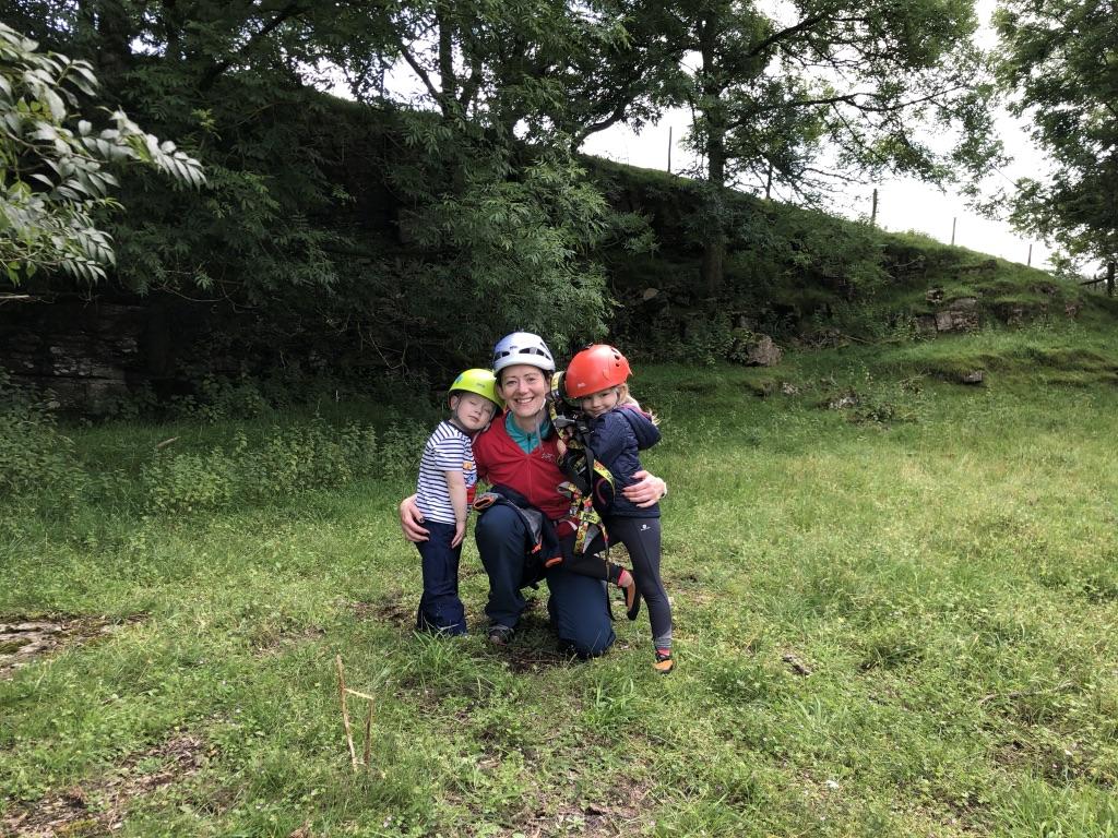 Julie with her children